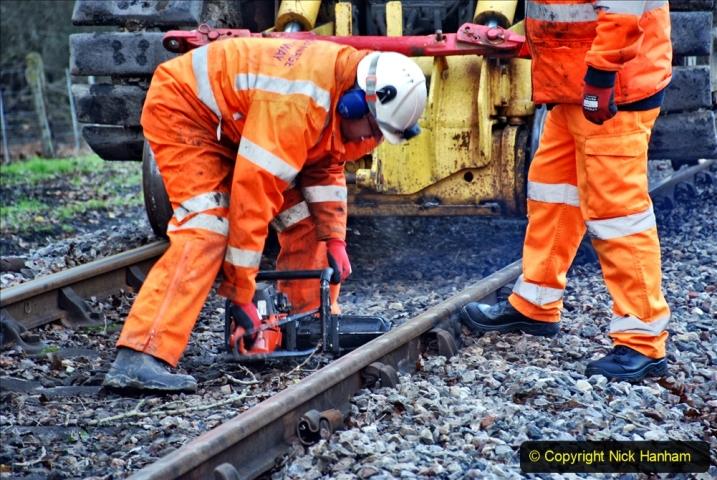 2020-01-06 Track renewal Cowpat Crossing to just beyond Dickers Crossing. (17) 017