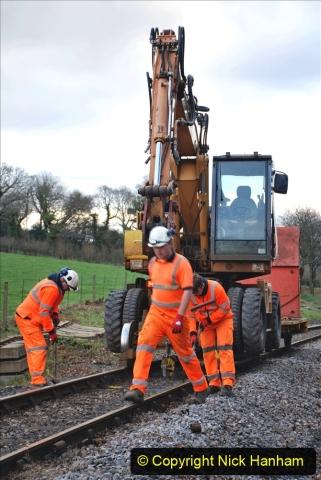 2020-01-06 Track renewal Cowpat Crossing to just beyond Dickers Crossing. (20) 020