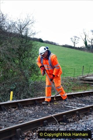 2020-01-06 Track renewal Cowpat Crossing to just beyond Dickers Crossing. (25) 025