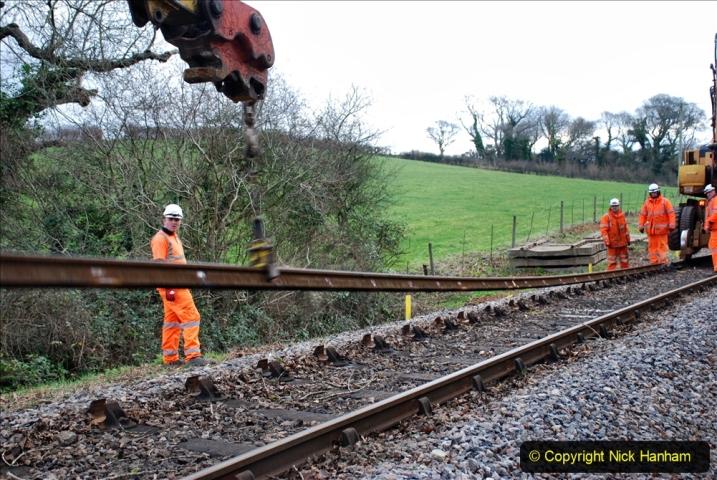 2020-01-06 Track renewal Cowpat Crossing to just beyond Dickers Crossing. (32) 032