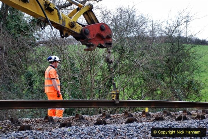 2020-01-06 Track renewal Cowpat Crossing to just beyond Dickers Crossing. (36) 036
