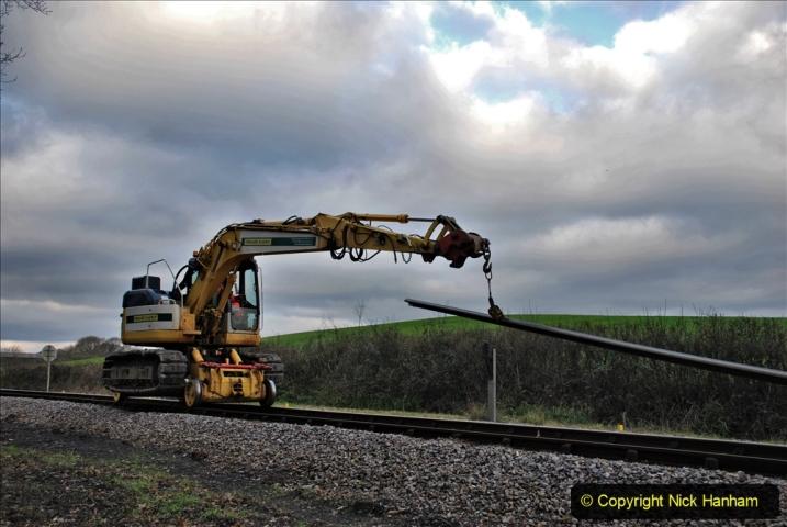 2020-01-06 Track renewal Cowpat Crossing to just beyond Dickers Crossing. (37) 037