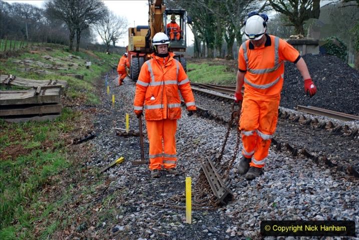 2020-01-06 Track renewal Cowpat Crossing to just beyond Dickers Crossing. (39) 039