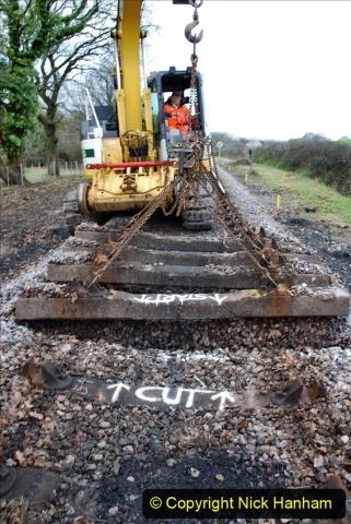 2020-01-06 Track renewal Cowpat Crossing to just beyond Dickers Crossing. (47) 047