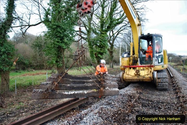 2020-01-06 Track renewal Cowpat Crossing to just beyond Dickers Crossing. (48) 048