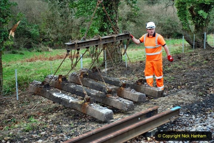 2020-01-06 Track renewal Cowpat Crossing to just beyond Dickers Crossing. (49) 049