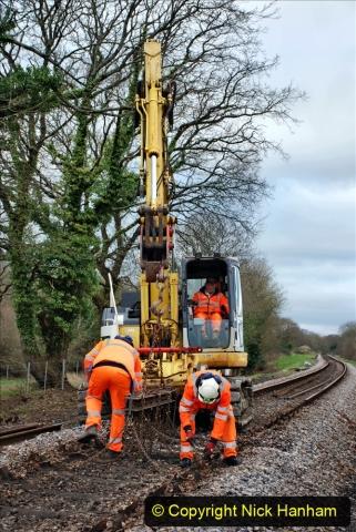 2020-01-06 Track renewal Cowpat Crossing to just beyond Dickers Crossing. (53) 053