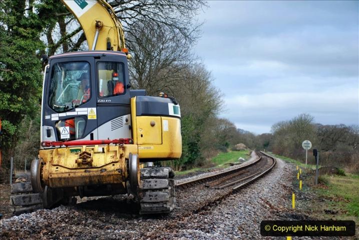 2020-01-06 Track renewal Cowpat Crossing to just beyond Dickers Crossing. (56) 056