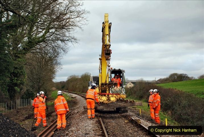 2020-01-06 Track renewal Cowpat Crossing to just beyond Dickers Crossing. (58) 058