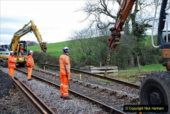 2020-01-06 Track renewal Cowpat Crossing to just beyond Dickers Crossing. (61) 061