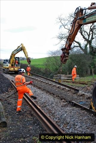 2020-01-06 Track renewal Cowpat Crossing to just beyond Dickers Crossing. (63) 063