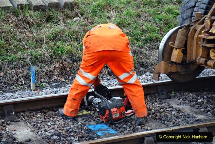 2020-01-06 Track renewal Cowpat Crossing to just beyond Dickers Crossing. (65) 065