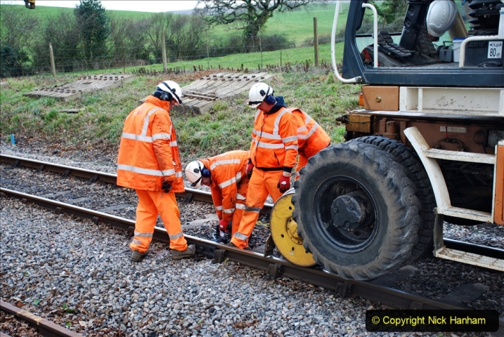 2020-01-06 Track renewal Cowpat Crossing to just beyond Dickers Crossing. (71) 071