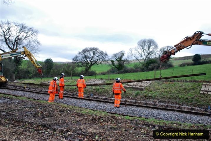 2020-01-06 Track renewal Cowpat Crossing to just beyond Dickers Crossing. (76) 076