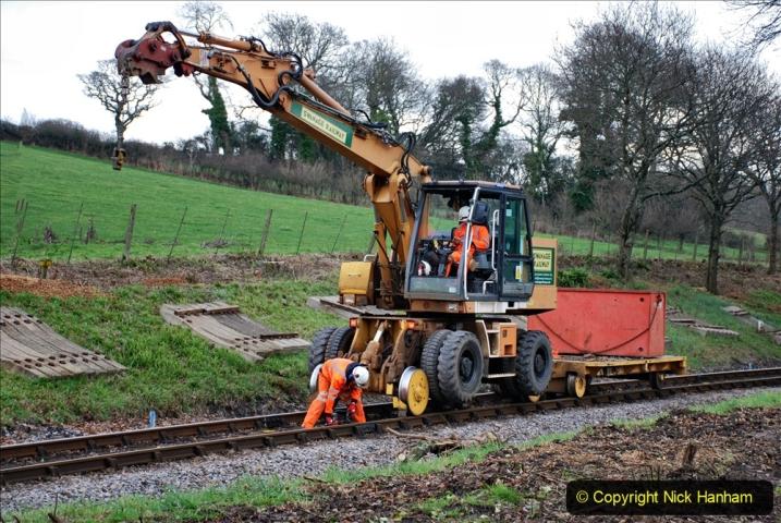 2020-01-06 Track renewal Cowpat Crossing to just beyond Dickers Crossing. (77) 077