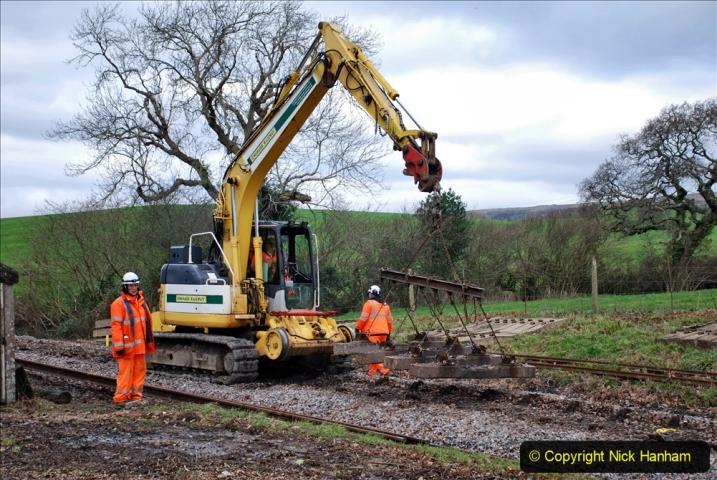 2020-01-06 Track renewal Cowpat Crossing to just beyond Dickers Crossing. (78) 078