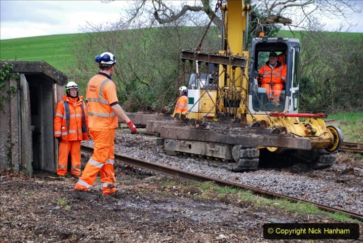 2020-01-06 Track renewal Cowpat Crossing to just beyond Dickers Crossing. (79) 079
