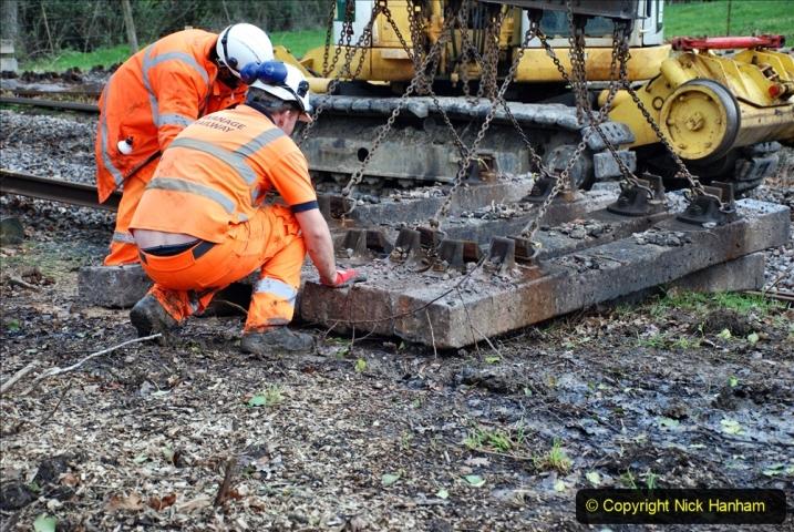2020-01-06 Track renewal Cowpat Crossing to just beyond Dickers Crossing. (82) 082