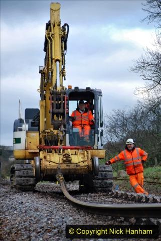 2020-01-06 Track renewal Cowpat Crossing to just beyond Dickers Crossing. (92) 092