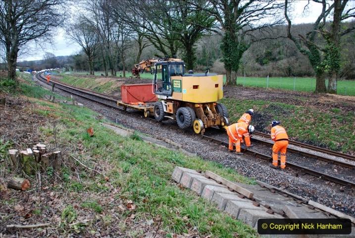 2020-01-06 Track renewal Cowpat Crossing to just beyond Dickers Crossing. (98) 098