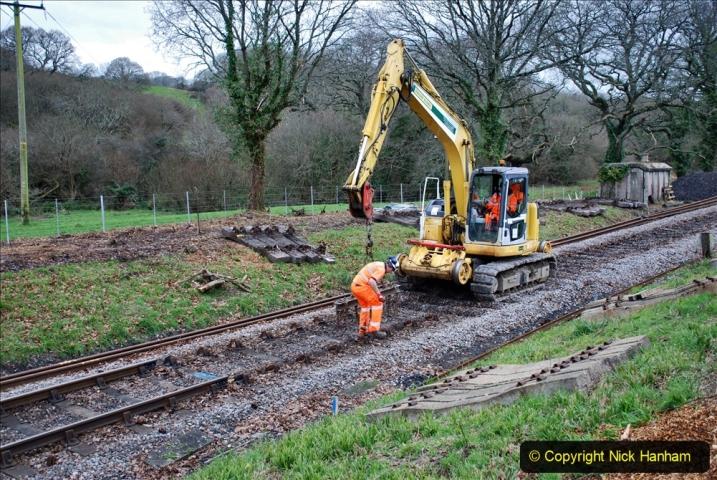 2020-01-06 Track renewal Cowpat Crossing to just beyond Dickers Crossing. (99) 099