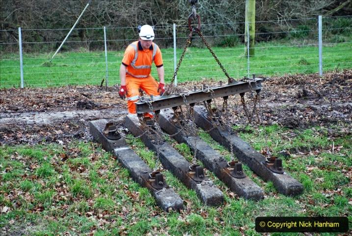 2020-01-06 Track renewal Cowpat Crossing to just beyond Dickers Crossing. (101) 101