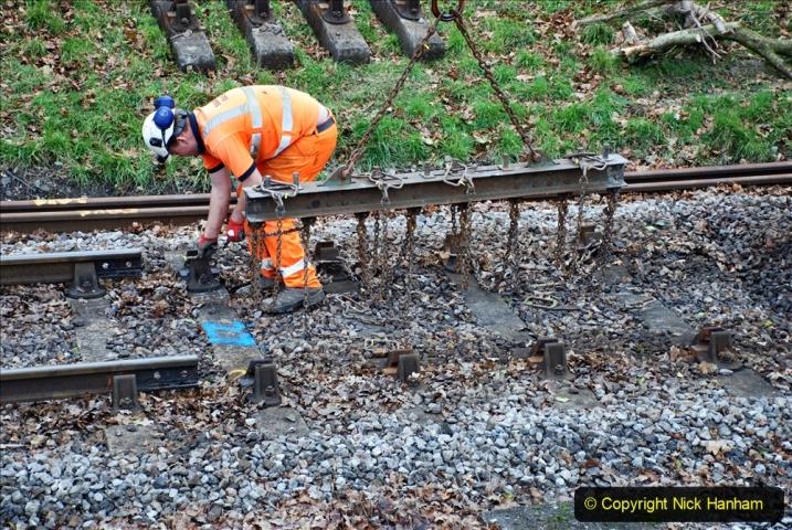 2020-01-06 Track renewal Cowpat Crossing to just beyond Dickers Crossing. (102) 102
