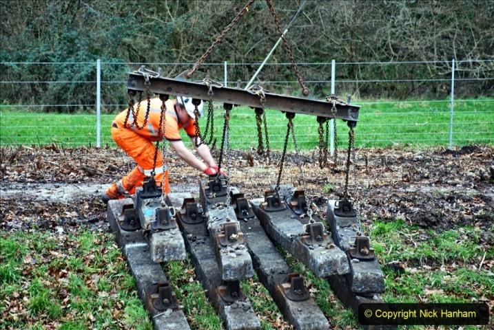 2020-01-06 Track renewal Cowpat Crossing to just beyond Dickers Crossing. (106) 106