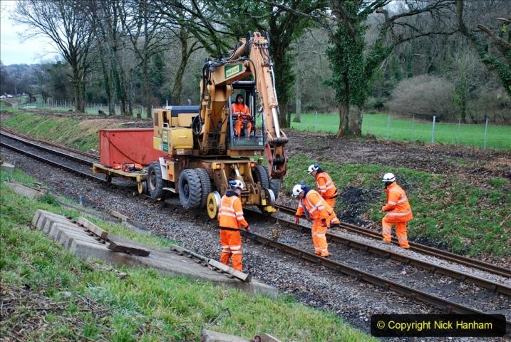 2020-01-06 Track renewal Cowpat Crossing to just beyond Dickers Crossing. (108) 108