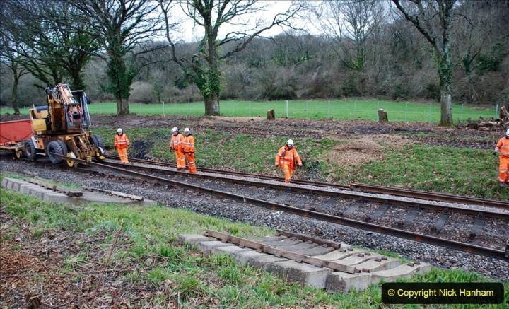 2020-01-06 Track renewal Cowpat Crossing to just beyond Dickers Crossing. (109) 109