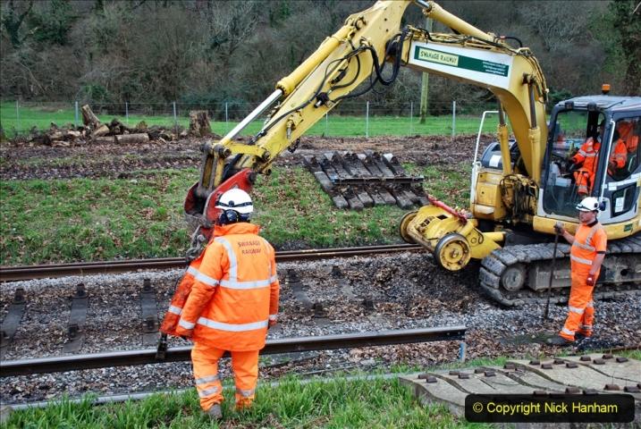 2020-01-06 Track renewal Cowpat Crossing to just beyond Dickers Crossing. (110) 110
