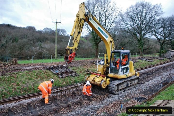 2020-01-06 Track renewal Cowpat Crossing to just beyond Dickers Crossing. (111) 111