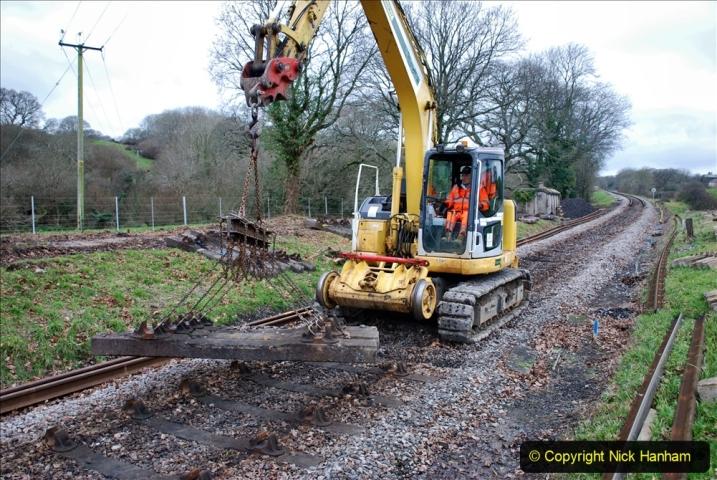 2020-01-06 Track renewal Cowpat Crossing to just beyond Dickers Crossing. (112) 112