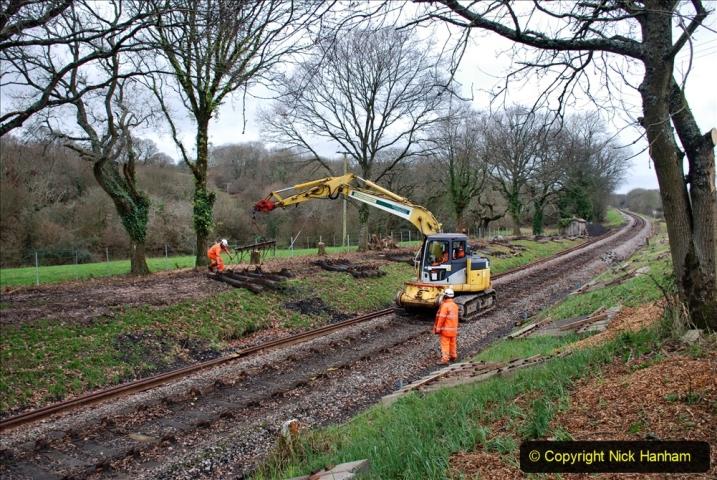 2020-01-06 Track renewal Cowpat Crossing to just beyond Dickers Crossing. (115) 115