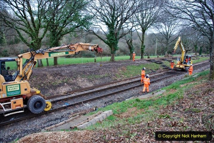 2020-01-06 Track renewal Cowpat Crossing to just beyond Dickers Crossing. (116) 116
