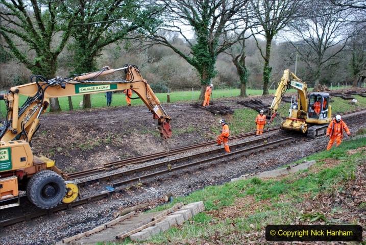 2020-01-06 Track renewal Cowpat Crossing to just beyond Dickers Crossing. (118) 118