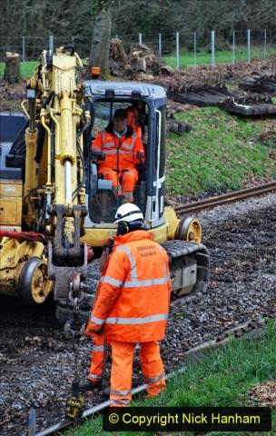 2020-01-06 Track renewal Cowpat Crossing to just beyond Dickers Crossing. (120) 120