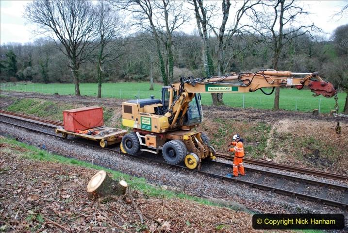 2020-01-06 Track renewal Cowpat Crossing to just beyond Dickers Crossing. (121) 121