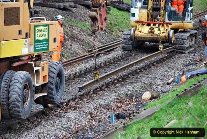 2020-01-06 Track renewal Cowpat Crossing to just beyond Dickers Crossing. (124) 124