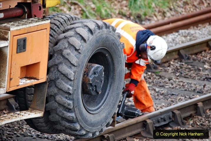 2020-01-06 Track renewal Cowpat Crossing to just beyond Dickers Crossing. (127) 127
