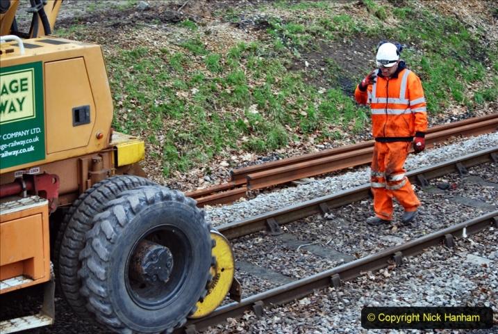 2020-01-06 Track renewal Cowpat Crossing to just beyond Dickers Crossing. (131) 131