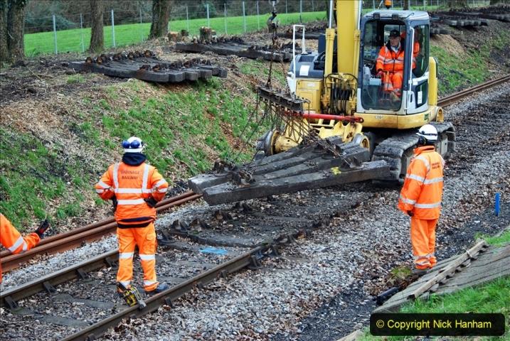 2020-01-06 Track renewal Cowpat Crossing to just beyond Dickers Crossing. (133) 133