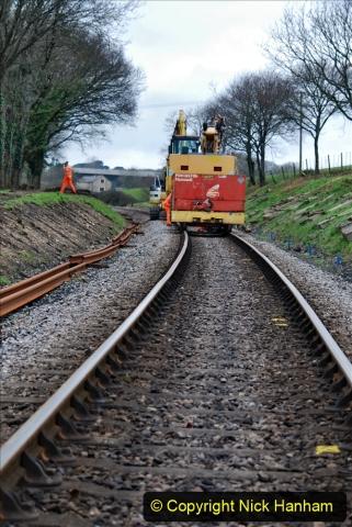 2020-01-06 Track renewal Cowpat Crossing to just beyond Dickers Crossing. (135) 135