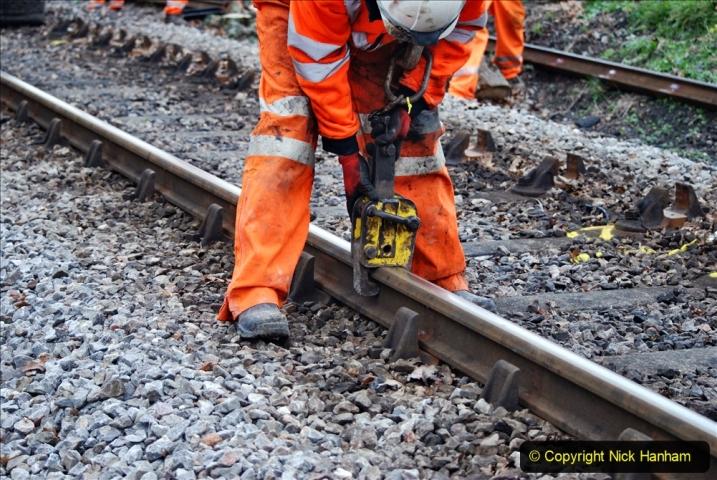 2020-01-06 Track renewal Cowpat Crossing to just beyond Dickers Crossing. (139) 139