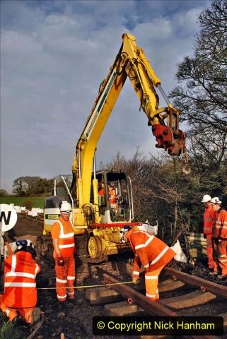 2020-01-08 Track renewal Cowpat Crossing to just beyond Dickers Crossing. (48) 048