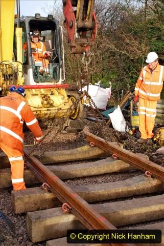 2020-01-08 Track renewal Cowpat Crossing to just beyond Dickers Crossing. (50) 050
