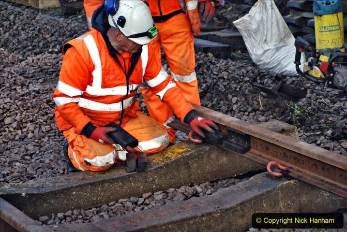 2020-01-08 Track renewal Cowpat Crossing to just beyond Dickers Crossing. (55) 055