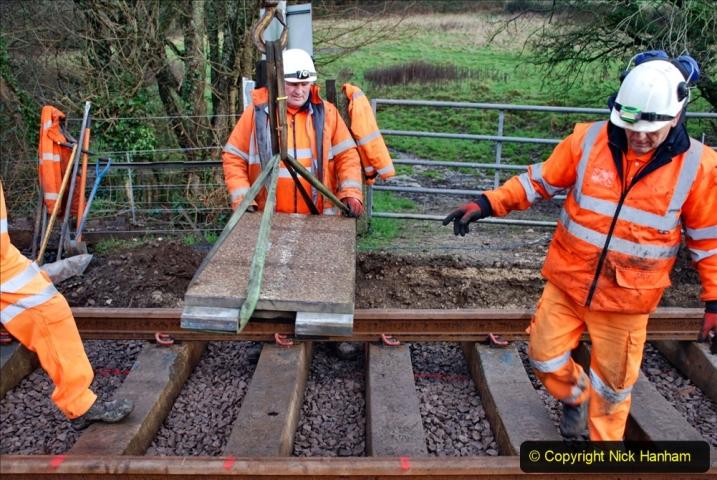 2020-01-08 Track renewal Cowpat Crossing to just beyond Dickers Crossing. (61) 061