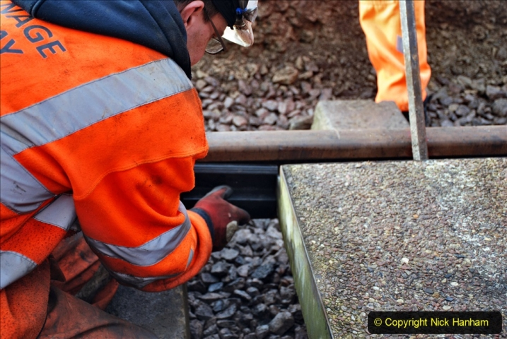 2020-01-08 Track renewal Cowpat Crossing to just beyond Dickers Crossing. (72) 072