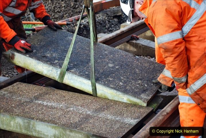 2020-01-08 Track renewal Cowpat Crossing to just beyond Dickers Crossing. (79) 079